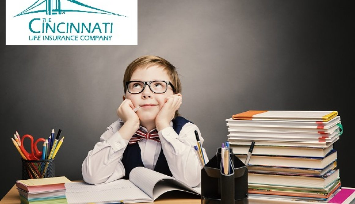 School Child Boy In Glasses Think In Classroom, Kid Primary Stud